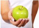 Photo of person holding apple for the Recommendations for the 2015 Dietary Guidelines for Americans