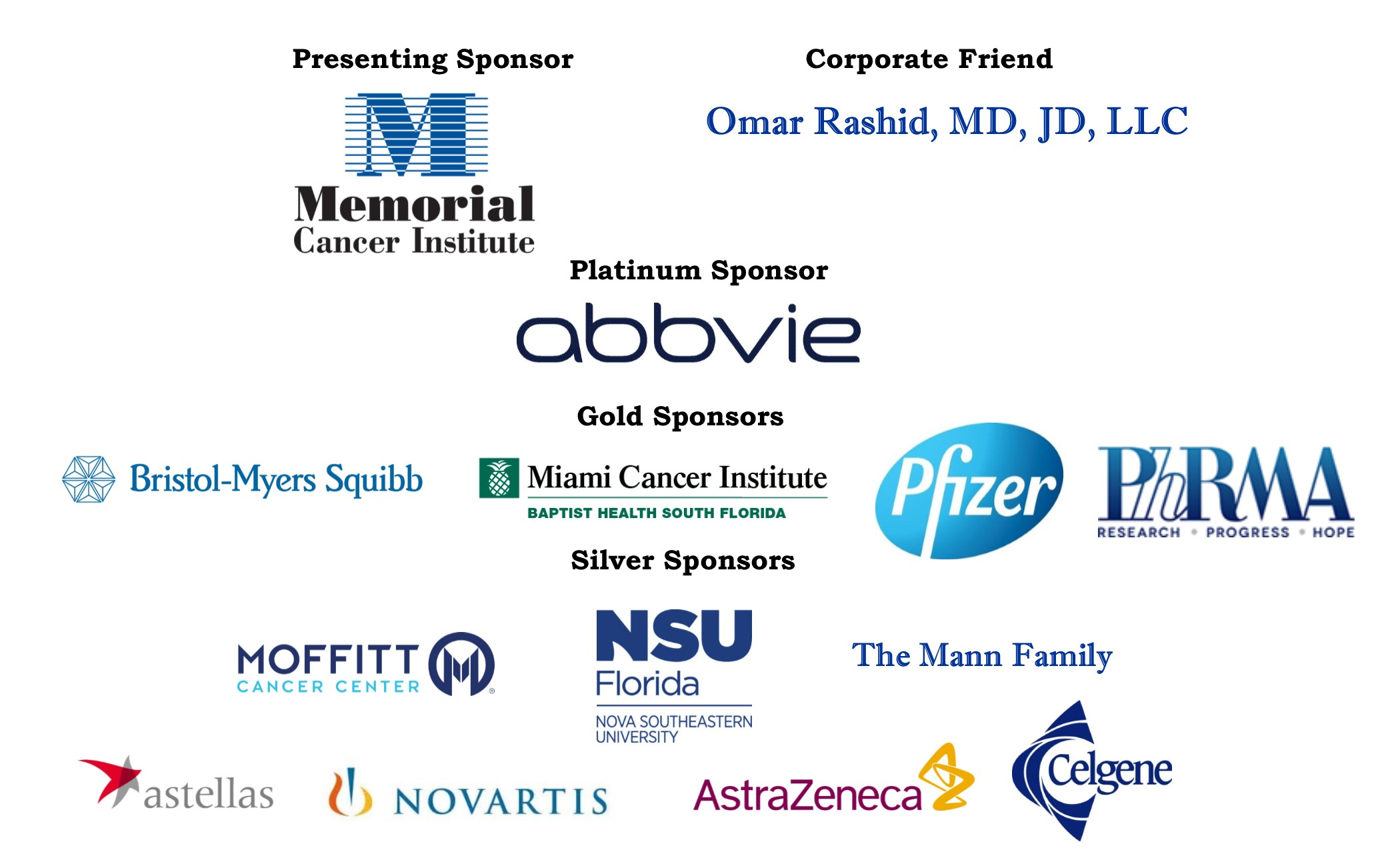 Clinical Trials PF Sponsors