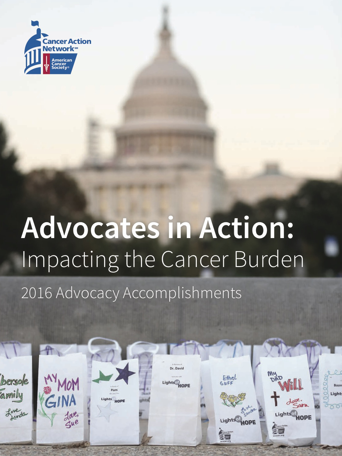 Image of the 2016 Advocacy Accomplishments Report Front Cover