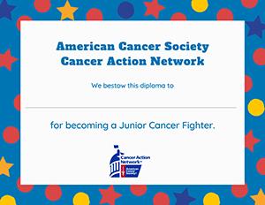 Jr Cancer Fighter diploma