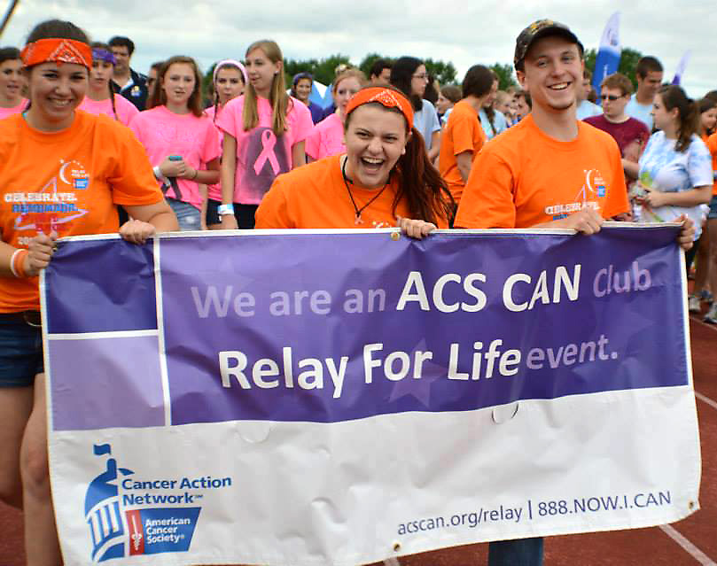 Photo of Relay For Life participants in walking at an event