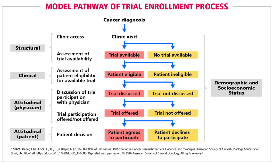 Fig 1 Model Pathway of Trial Enrollment Process