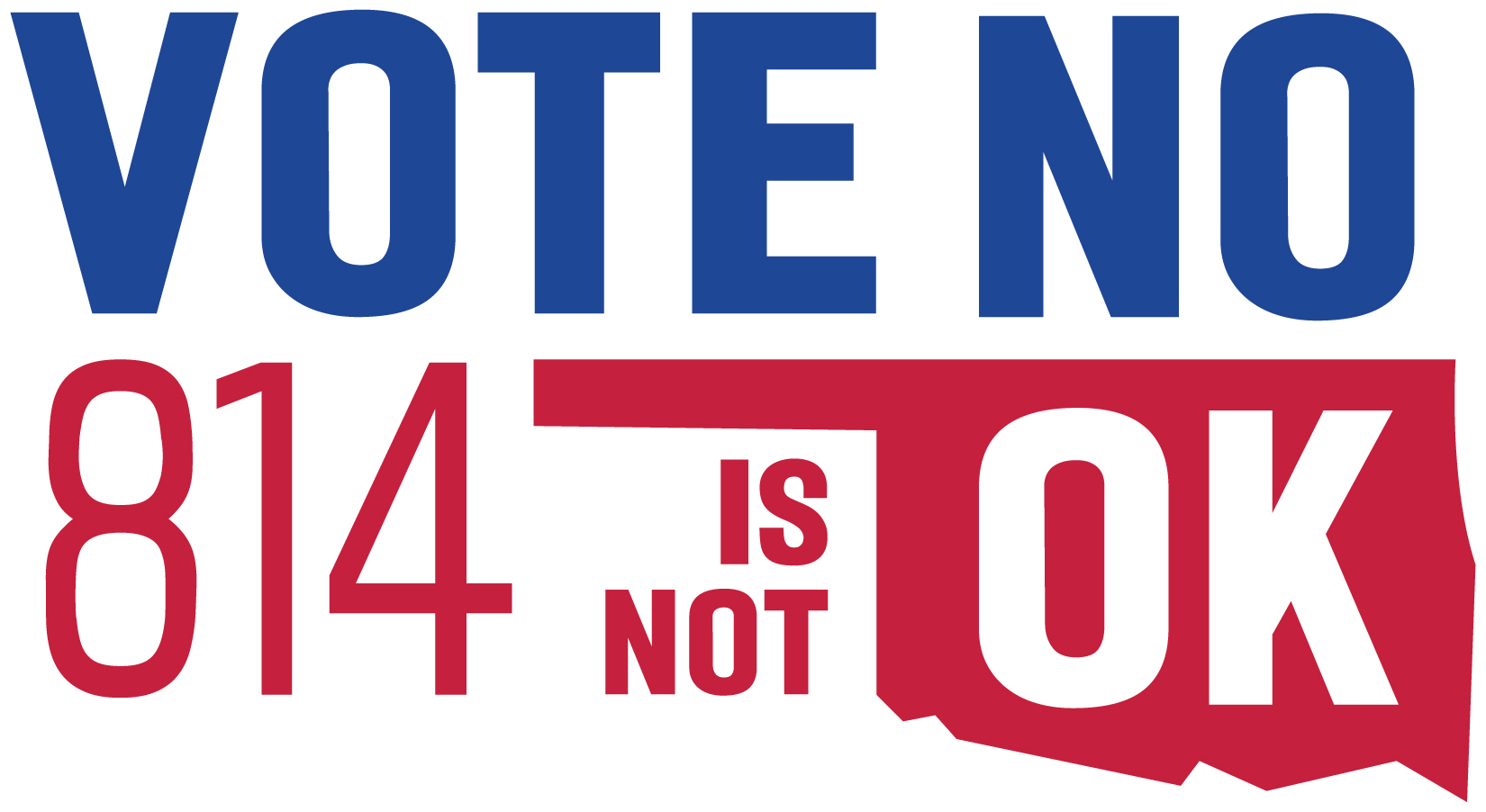 Vote no on 814 with Oklahoma outline