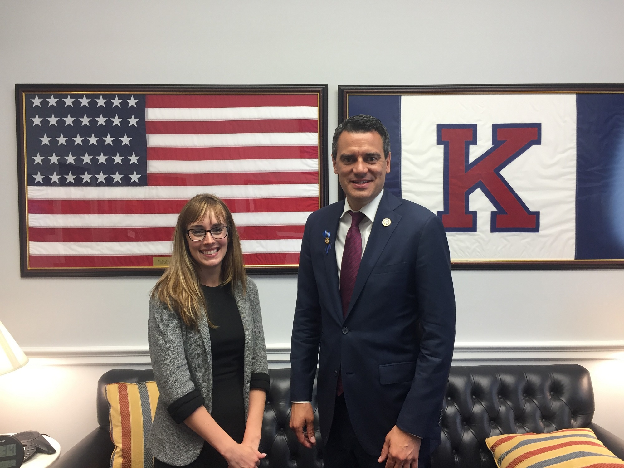 Courtney Hurtig meets with Rep. Yoder