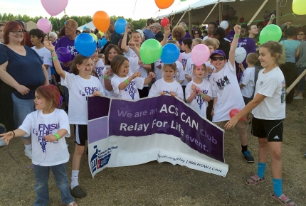 Photo of Relay for Life event participants