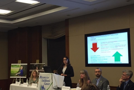 "Photo of ""Translating Discovery into Cures for Children with Cancer"" briefing on Capitol Hil"