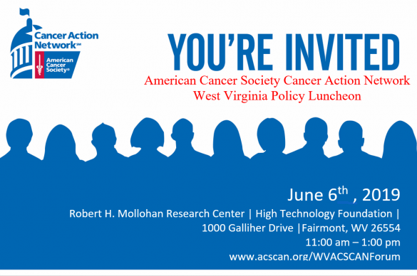 ACS CAN WV Policy Luncheon Invite 2019