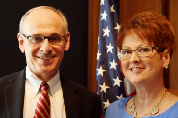 Dr. Rich Wender and Debbie Pearsall