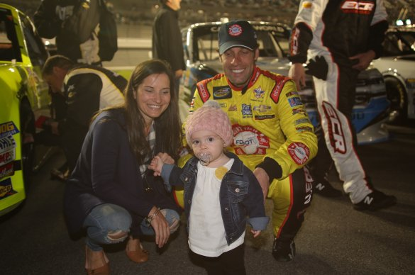NASCAR driver Scott Lagasse Jr with his family