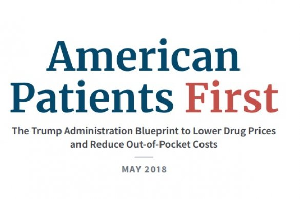 Front Cover of the Administration Blueprint on Drug Prices