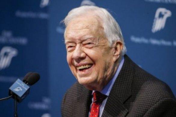 President Jimmy Carter smiling