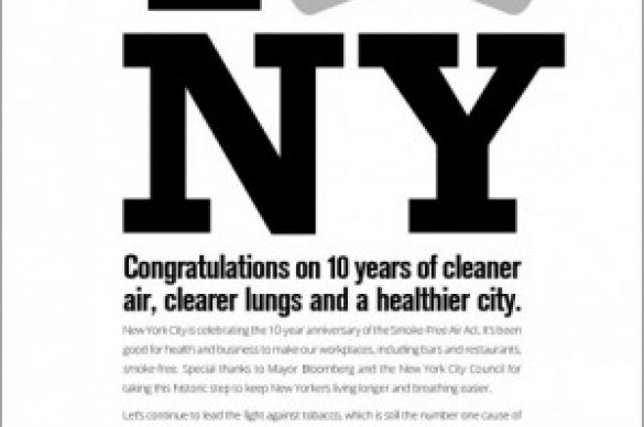 NYC 10th Anniversary Advertisement