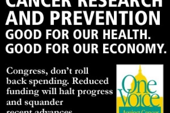 One Voice Against Cancer Advertisement