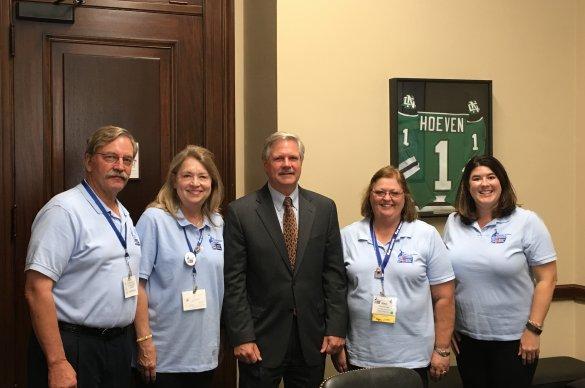 Cancer advocates meet with Representative