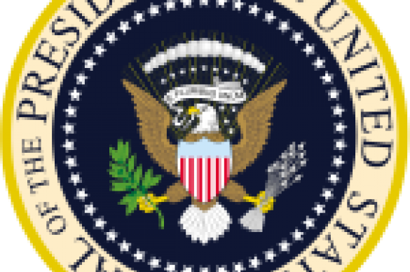 Photo of the seal of the President of the United States