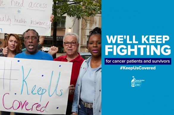 rally supporting Keep Us Covered