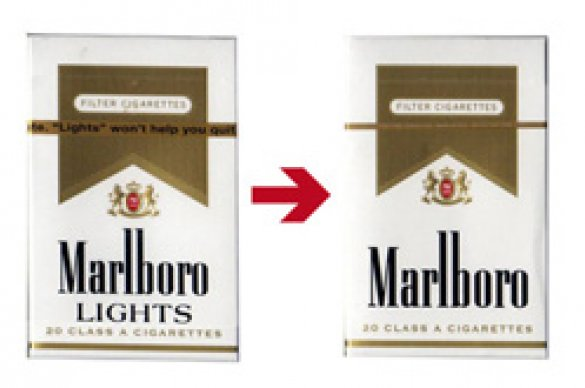 Marlboro cigarette packages