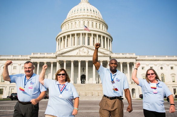 American Cancer Society Cancer Action Network Volunteers at the U.S. Capitol