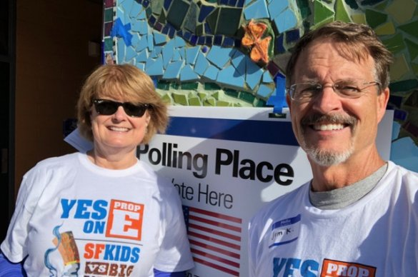 Advocates working at the polls