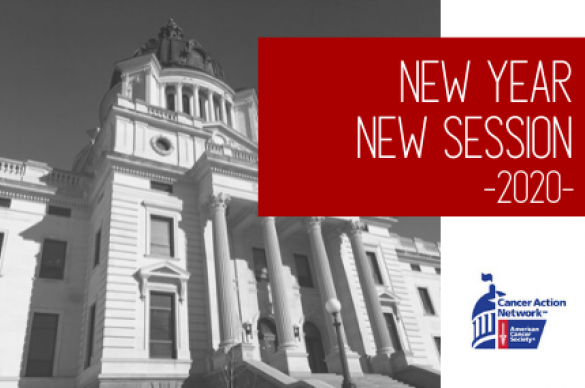 New Year New Session 2020 with photo of the South Dakota State Capitol