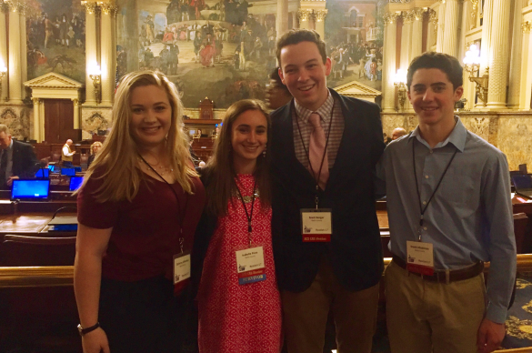 Photo of young ACS CAN volunteers at Pennsylvania Day at the Capitol