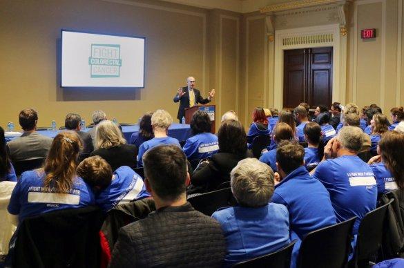 Dr. Wender speaks to crowd