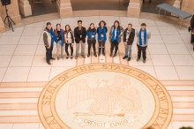 Youth volunteering at Day at the Capitol event in New Mexico