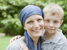 Photo of cancer patient and young boy