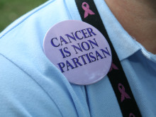 Cancer is nonpartisan button