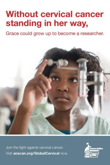 Without cervical cancer standing in her way, Grace could grow up to become a researcher.
