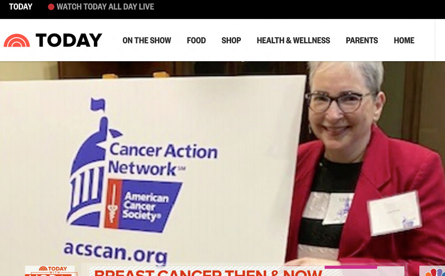 ACS CAN volunteer appears on the Today Show