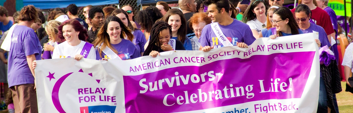 Photo of Relay for Life event participants marching