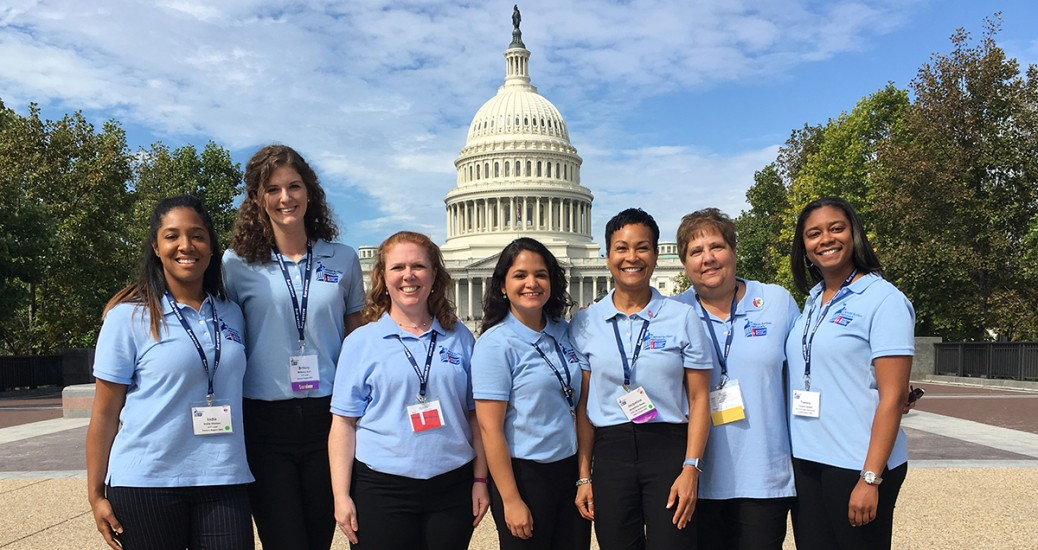 Photo of Maryland Staff and Volunteers in front of the U.S. Capitol