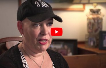 Jill, a cancer survivor and ACS CAN volunteer sharing her story on video