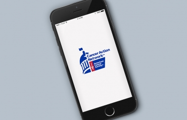 Photo of iPhone running the ACS CAN Advocacy App